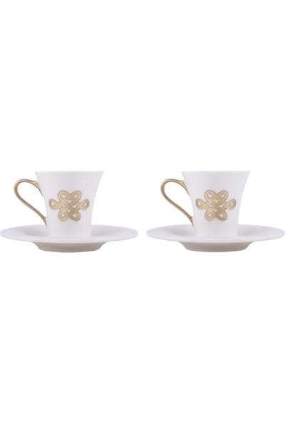 Kısmetce Mistik Düğüm Kahve Fincanı Seti