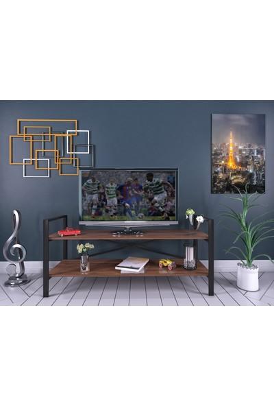 Yelken Mobilya İkra Metal Tv Sehpası Ceviz