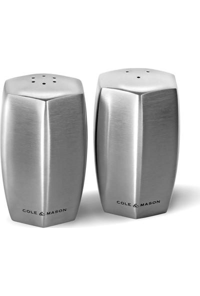 Cole Mason H101849 Lymington Çelik Tuzluk Biberlik Seti