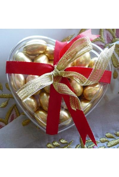 Falbelo Kalp Şeklinde Draje Çikolata Hediye Kutusu
