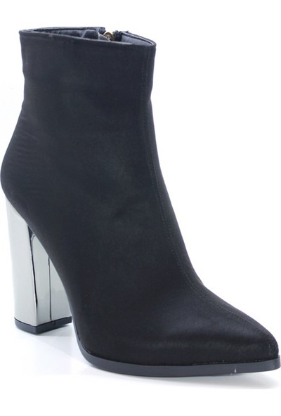 Cushy Miror Siyah Kadın Topuklu Bot