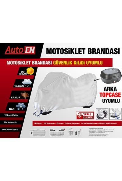 AutoEN Honda FES 250 Foresight Motosiklet Brandası (Arka Çanta,Topcase ve Güvenlik Kilidi Uyumlu)
