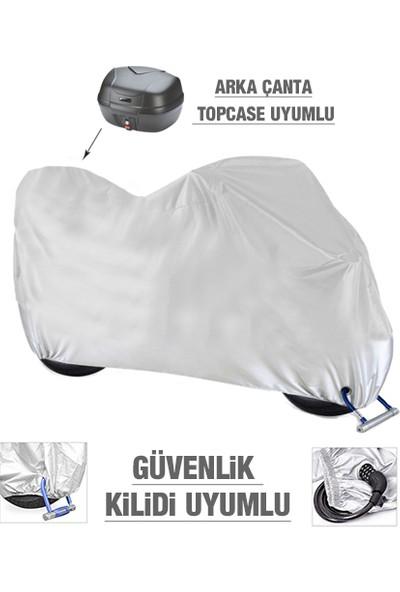 AutoEN SYM Joyride Evo 200i Motosiklet Brandası (Arka Çanta,Topcase ve Güvenlik Kilidi Uyumlu)