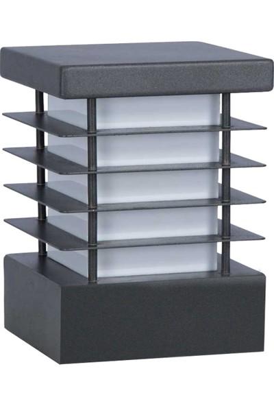 Yakan Aydınlatma Moder Bega Armatür 22 cm x 22 cm Kare Petekli Set Üstü Modern Bollard Lights