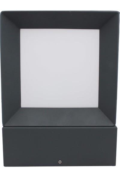 Yakan Aydınlatma Moder Bega Armatür 22 x 22 cm Kare Çerçeveli Set Üstü Modern Bollard Lights