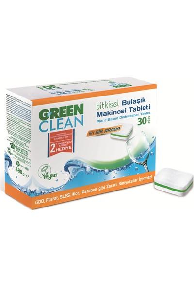 U Green Clean 30'lu Bitkisel Bulaşık Makinesi Tableti