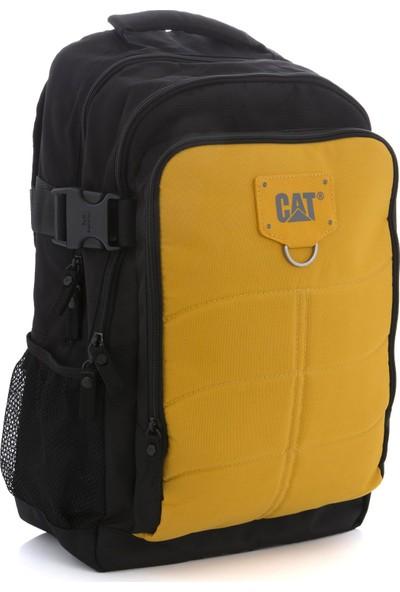 Cat Unisex Laptop Bölmeli Spor Sırt Çantası Sarı 83436