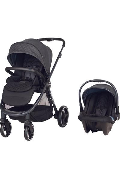 Prego Nirvana Travel Sistem Bebek Arabası Siyah
