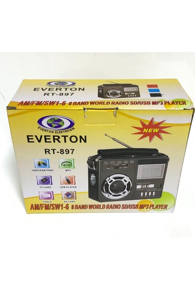 Everton Rt-897 Usb-Sd-Fm 8 Band Dünya Radyosu Müzik Kutusu