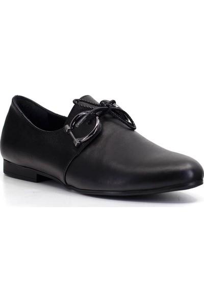 Mammamia D19Ya-3225 Kadın Deri Ayakkabı Siyah
