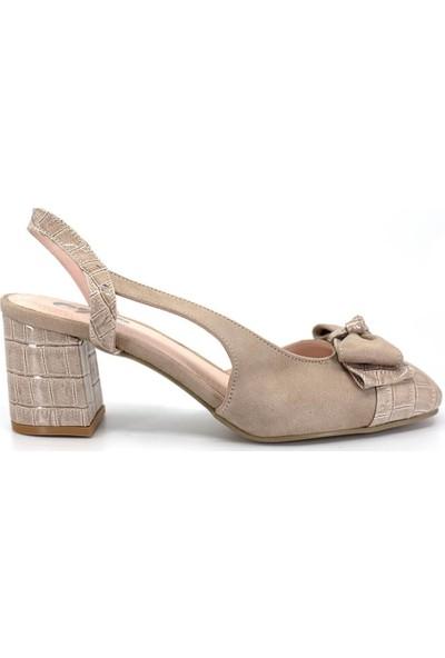 Eşle Ayakkabı 9Y-1151 Kadın Topuklu Ayakkabı Bej