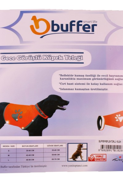 Buffer Gece Görüşlü Köpek Yeleği (Large)