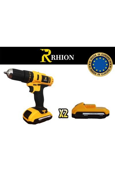 Rhion 24V 4Ah Lion Çift Akülü Şarjlı Darbeli Matkap Vidalama