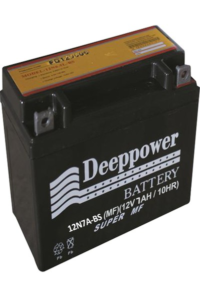 Deep Power 12N 7A -Bs 12V 7 Ah 10 Hr Yamaha Ybr Aküsü