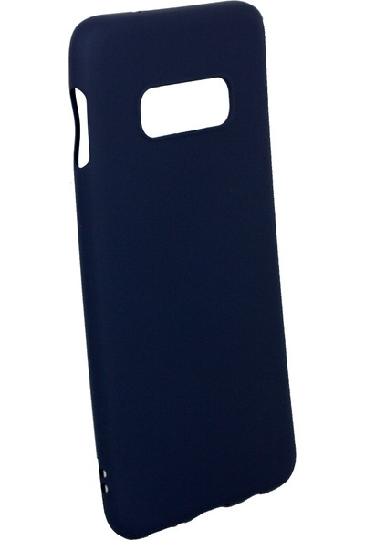 Case 4U Samsung Galaxy S10e Kılıf Mat Silikon Arka Kapak - Premier Lacivert