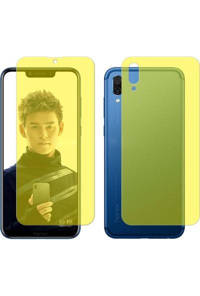 Case 4U Huawei Y7 2019 Ön + Arka Tam Ekran Kaplayıcı Film Kavisler Dahil Şeffaf