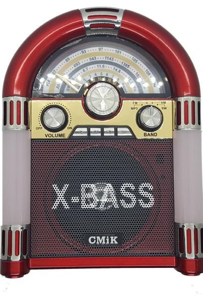 Cmik Nostaljik Müzik Makinası Görünümlü Radyo