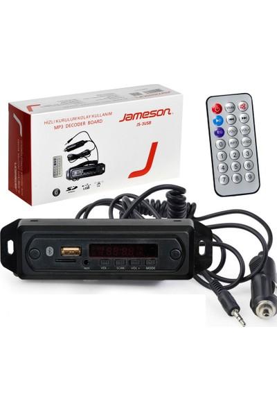 Jameson 3Usb Oto Teyp Aux Dab Usb Sd Bluetooth Çevirici Dönüştürücü Hazır Set 12V