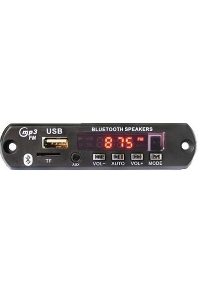 Polaxtor Oto Teyp Usb Sd Aux Bluetooth Bord Çevirici Dönüştürücü Dijital Player 12V Kumandalı