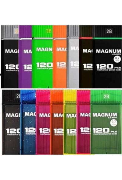 Magnum 0,5 2B Min Yumuşak Ve Koyu Yazar 120Li Sarı Kırmızı Kutu