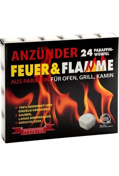 Feuer & Flamme Mangal Kömürü Tutuşturma Küpleri 24 Adet