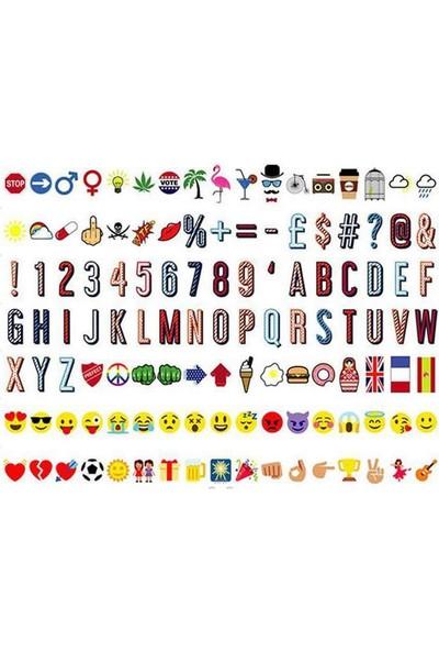 Lightbox A4 (Işıklı Pano) 161 Karakter+Harf+Emoji