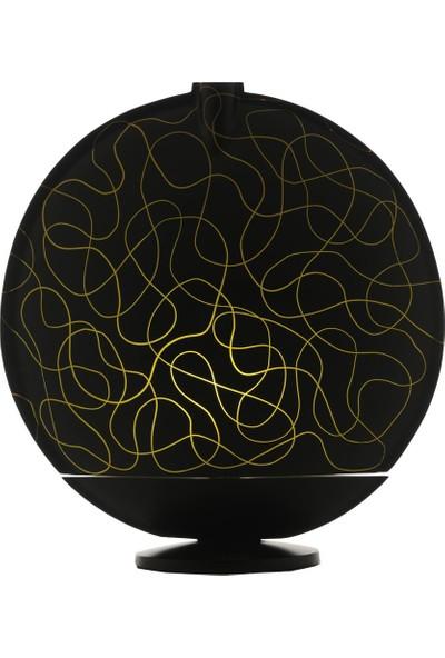 Sensohome Lamp Full Moon Large Black Motif Yellow Lamba