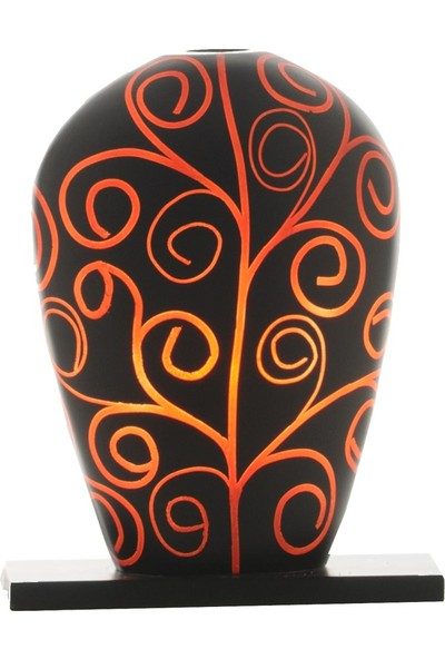 Sensohome Lamp Yoni Small Arabesk Black Red Lamba