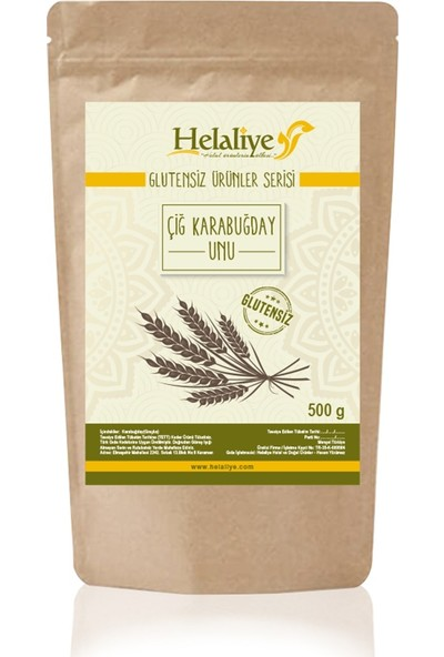 Helaliye Çiğ Karabuğday Unu (greçka) 500 gr