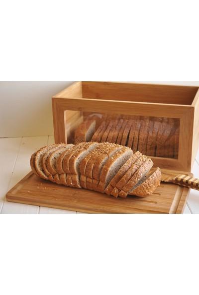 Bamwood W0636 Kesme Tahtalı Ekmek Saklama Kabı