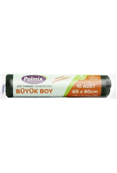 Polmix Büyük Boy Çöp Poşeti 65 X 80Cm 30 Rulo - 300 Adet