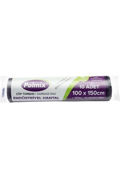 Polmix Endüstriyel Hantal Çöp Poşeti 100X150 Cm - 10 Rulo - 100' lü