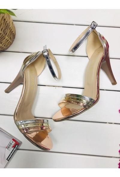 Allina W0012 İnce Topuk Renkli Abiye Klasik Kadın Ayakkabı