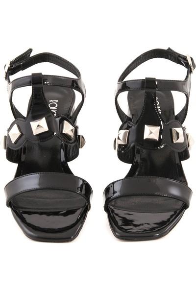 Rouge Deri Kisa Topuklu Kadın Abiye Ayakkabı 5076