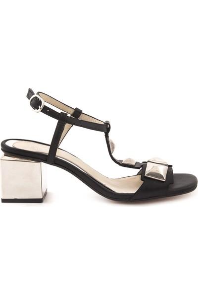 Rouge Deri Kisa Topuklu Kadın Abiye Ayakkabı 5235