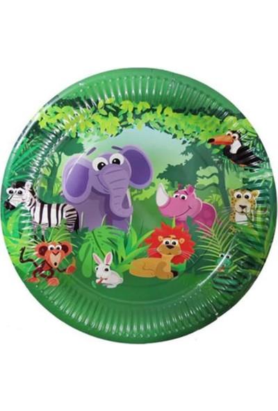 Sevinç 8'li Sevimli Hayvanlar Karton Tabak Süsleme Doğum Günleri İçin