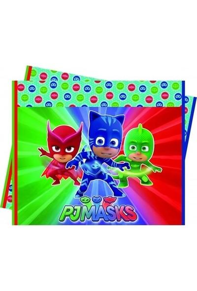 Sevinç Pjmasks Pijamaskeliler Masa Örtüsü 120 x 180 cm Doğum Günü Süsleme