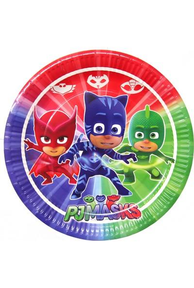 Sevinç 8'li Pjmasks Pijamaskeliler Karton Tabak Süsleme Doğum Günleri