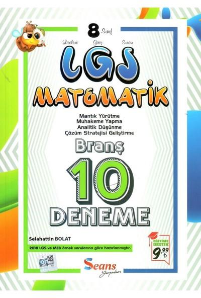 Seans Yayınları 8. Sınıf LGS Matematik 10 Deneme