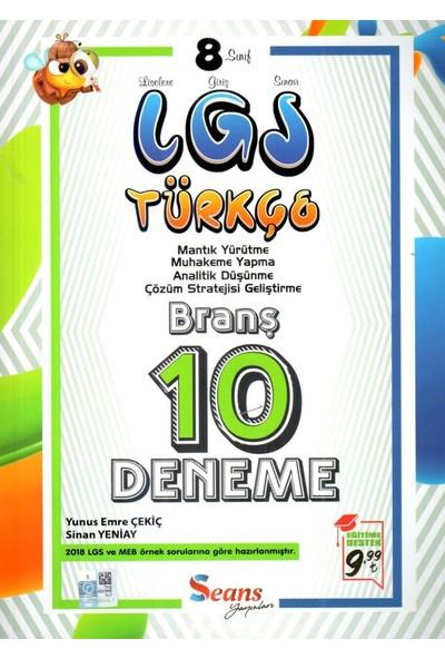 Seans Yayınları 8. Sınıf LGS Türkçe 10 Deneme