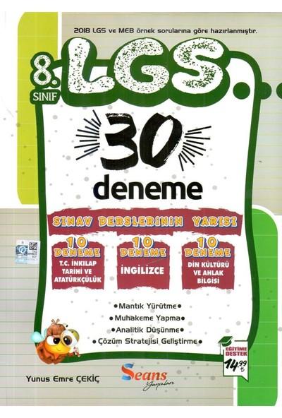 Seans Yayınları 8. Sınıf LGS 30 Deneme
