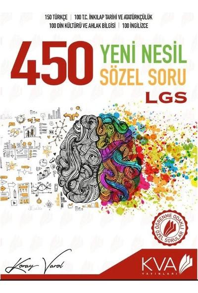 Koray Varol Akademi 8.Sınıf LGS 450 Yeni Nesil Sözel Soru Bankası