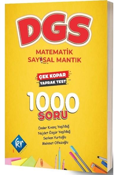 DGS Matematik Sayısal Mantık Çek Kopar Yaprak Test KR Akademi