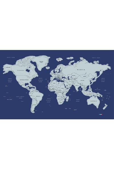Mapofx Gez-Kazı Harita - Kazınabilir Dünya Haritası Büyük Boy