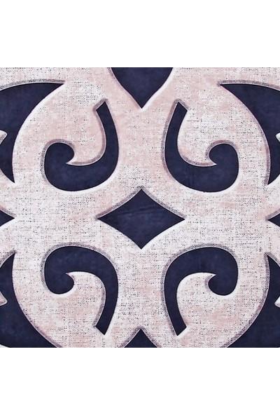 Dekoreko Figürlü Özel Kesim Halı 102 Bej Siyah 80 x 200 cm
