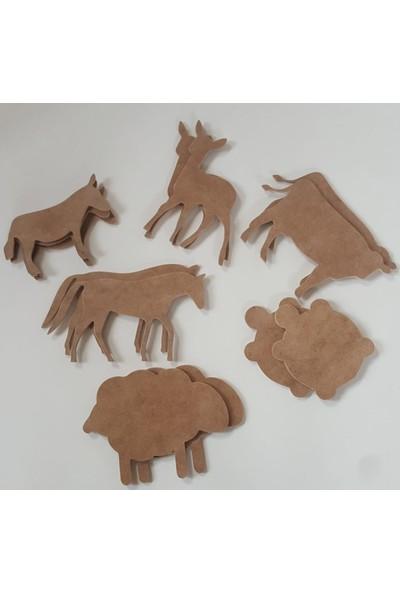 Oyuncakbuyaa Boyanabilir Ahşap Hayvan Figürleri Seti