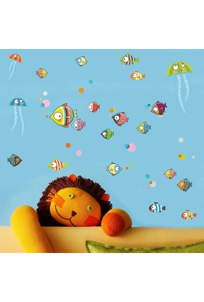 Dekor Loft Akvaryum Rüyası Çocuk Odası Duvar Sticker CS-663