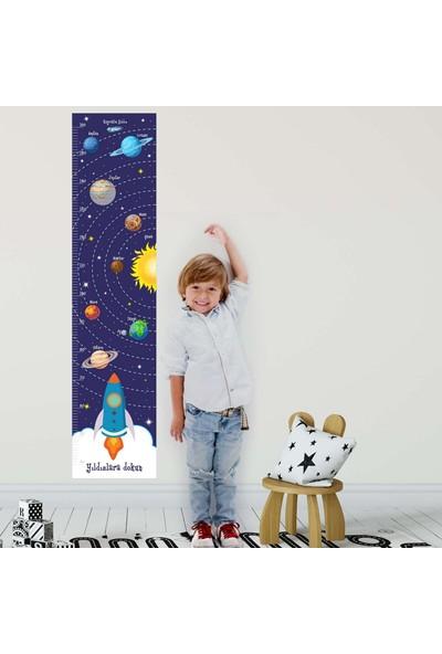 Dekor Loft Yıldızlara Dokun Boy Ölçer Sticker DBC64