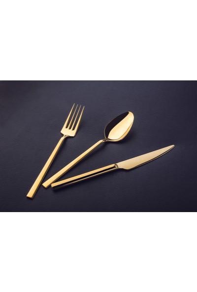 Lugga Doğa Gold 36 Parça 6 Kişilik Çatal Kaşık Bıçak Seti