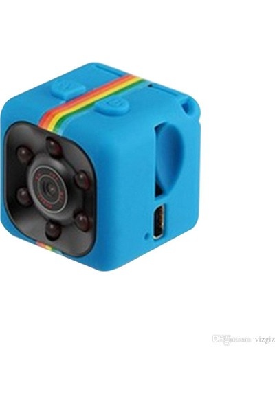 Dt Mini Dv Video Kaydedici Sq11 Gece Görüş Fov140 480P Spor Mini Aksiyon Kamera Mavi